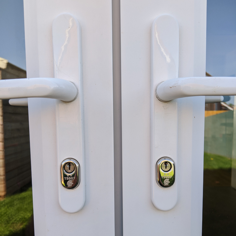 PAS24 high security door handles fitted by First Choice Locksmiths Exeter