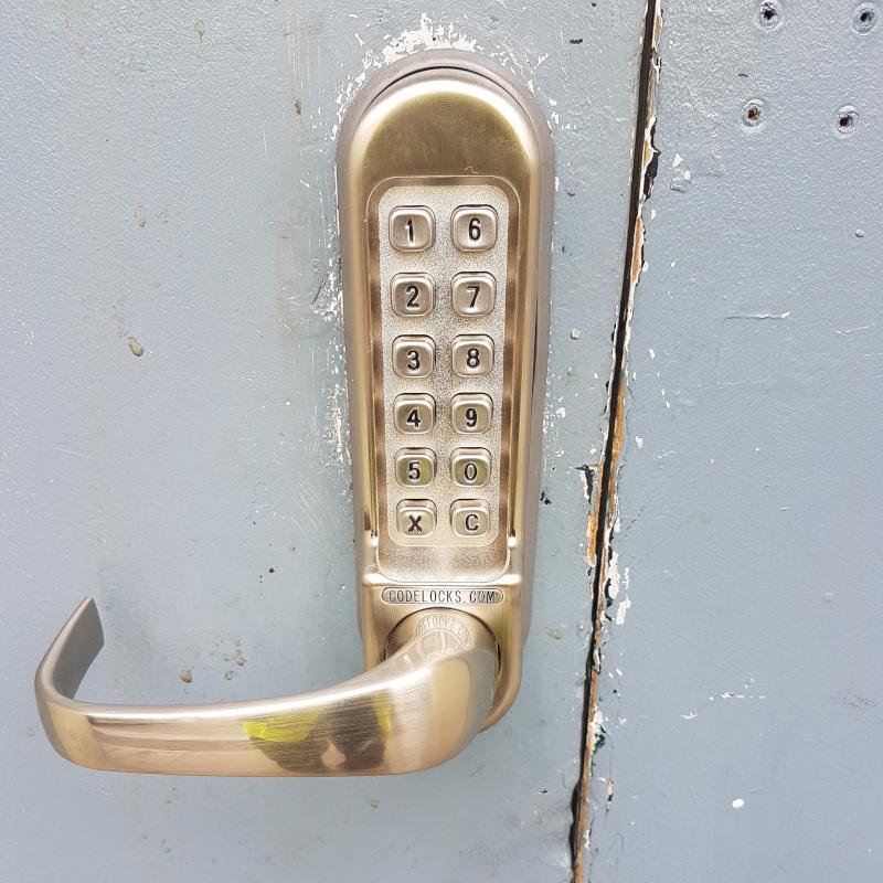 Heavy duty code key installed in Exeter
