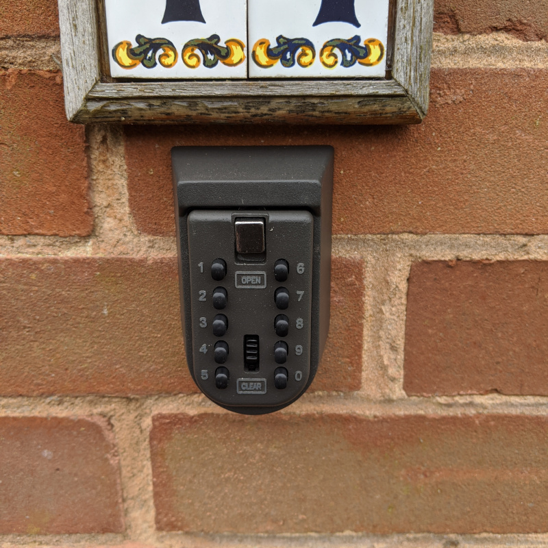 Small key safe installed for an elderly customer in Exeter
